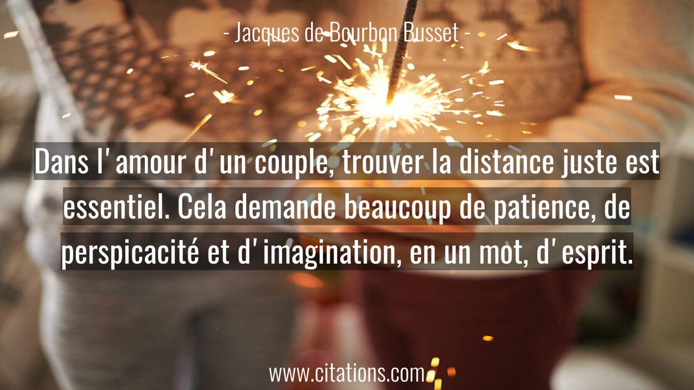 Dans l'amour d'un couple, trouver la distance juste est essentiel.