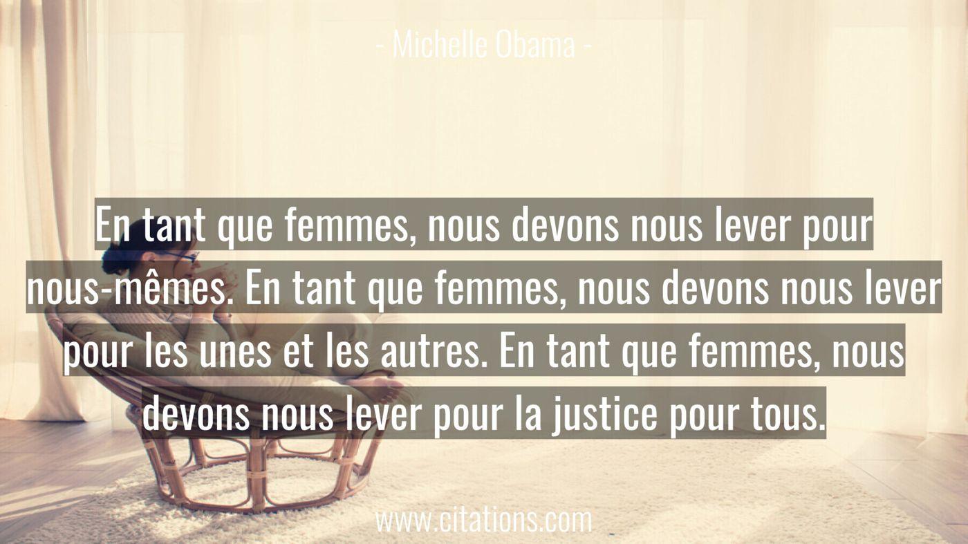 En tant que femmes, nous devons nous lever pour nous-mêmes. En tant que femmes, nous devons nous lever pour les unes et...