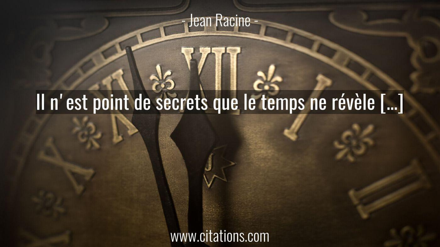 Il n'est point de secrets que le temps ne révèle […]