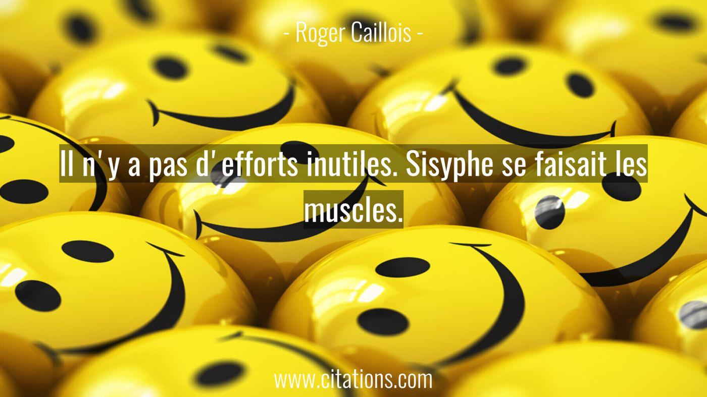 Il n'y a pas d'efforts inutiles. Sisyphe se faisait les muscles.