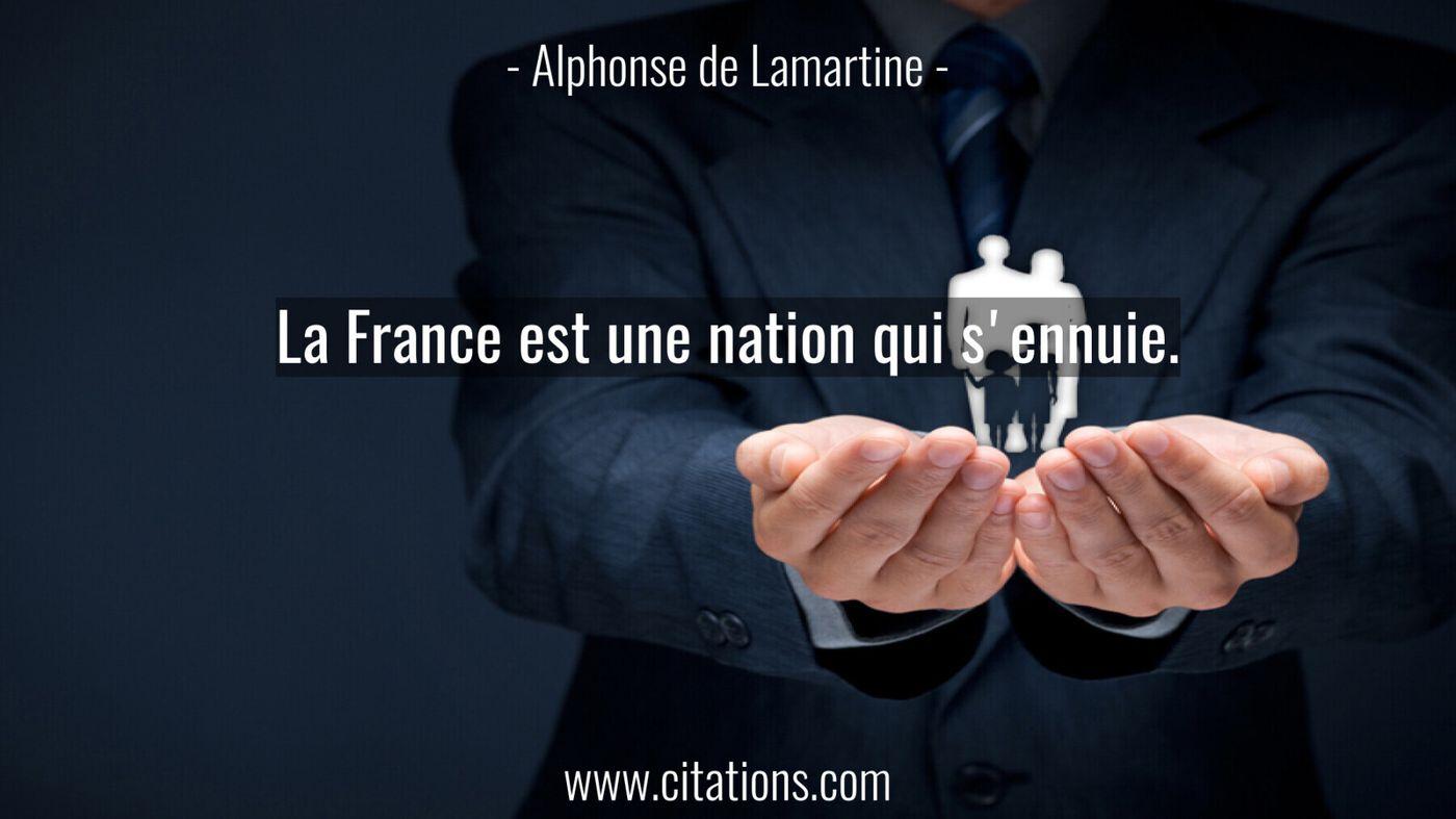 La France est une nation qui s'ennuie.