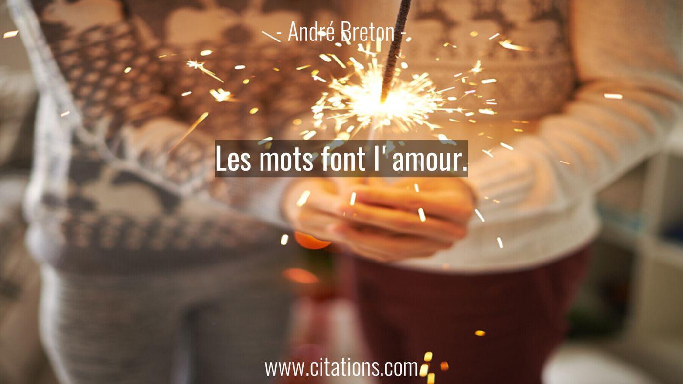 Les mots font l'amour.