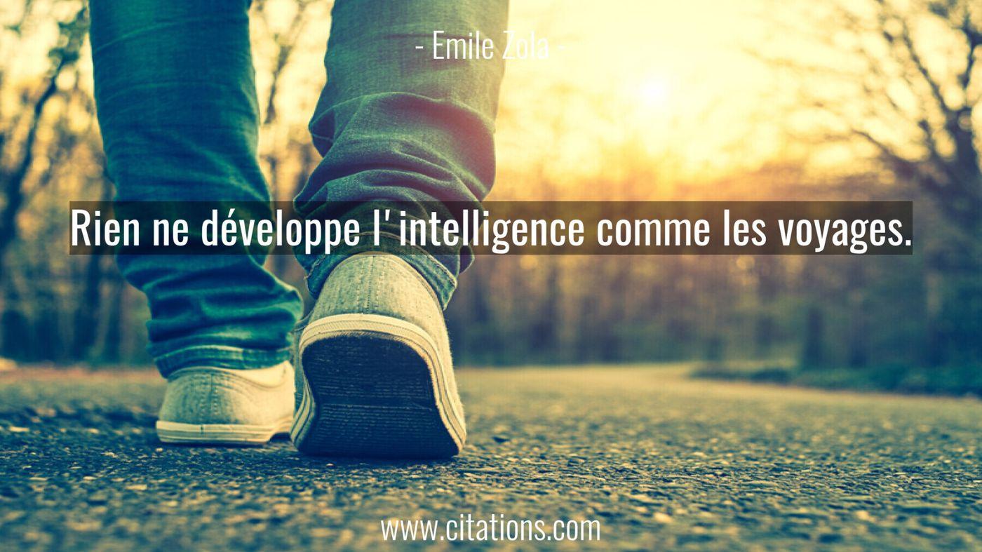 Rien ne développe l'intelligence comme les voyages.
