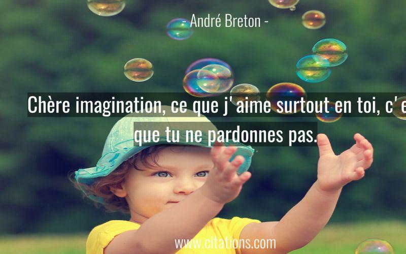 Chère imagination, ce que j'aime surtout en toi, c'est que tu ne pardonnes pas.