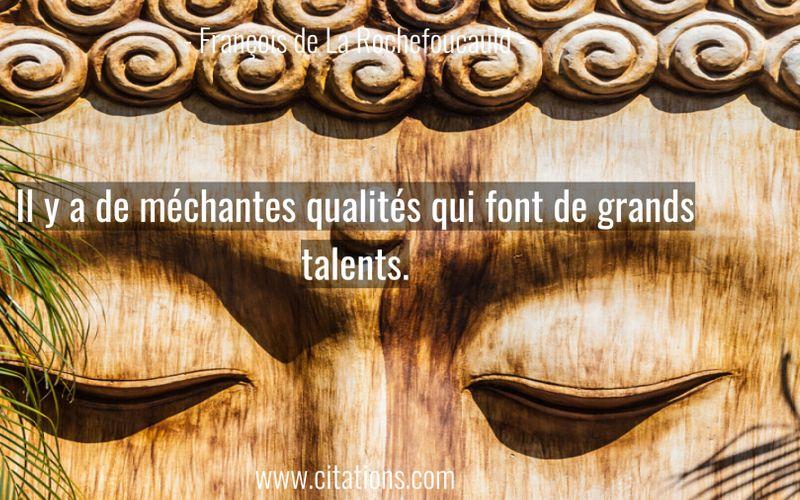 Il y a de méchantes qualités qui font de grands talents.