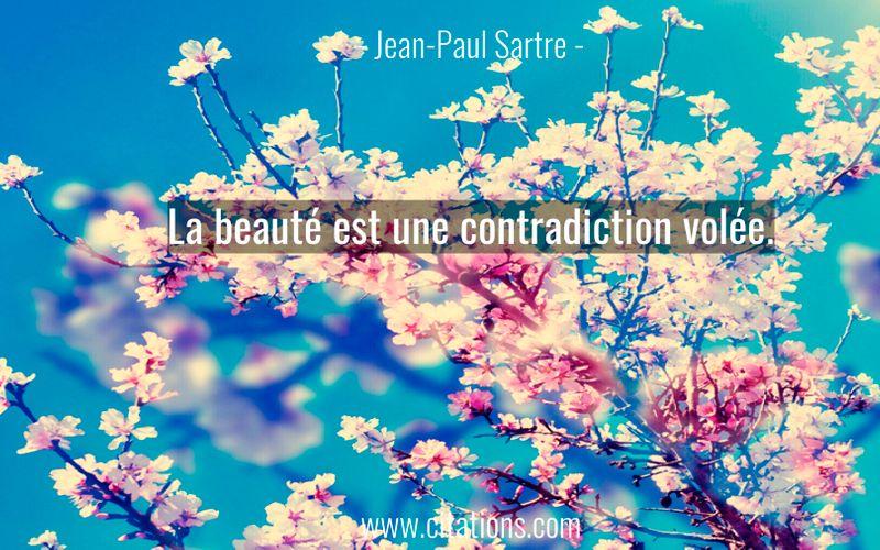 La beauté est une contradiction volée.