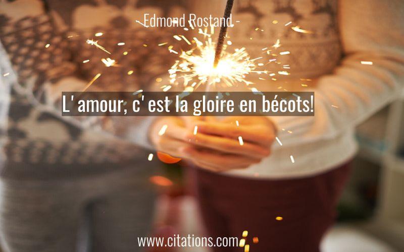 L'amour, c'est la gloire en bécots!