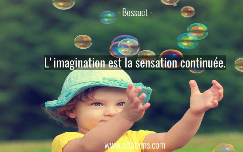 L'imagination est la sensation continuée.